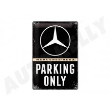Retro cedule Mercedes Parking Only 20x30 cm
